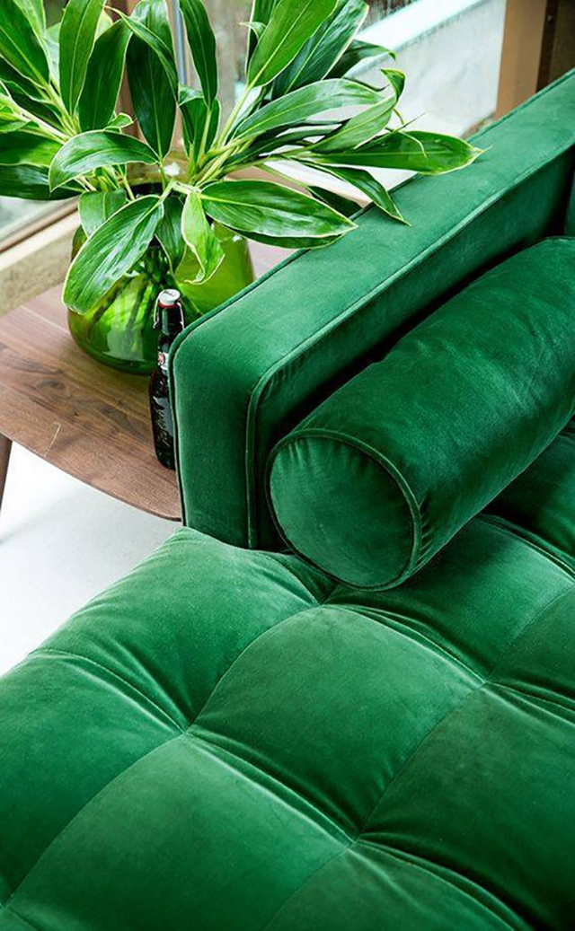 Trend Alert The Green Velvet Sofa Mint Modern Home