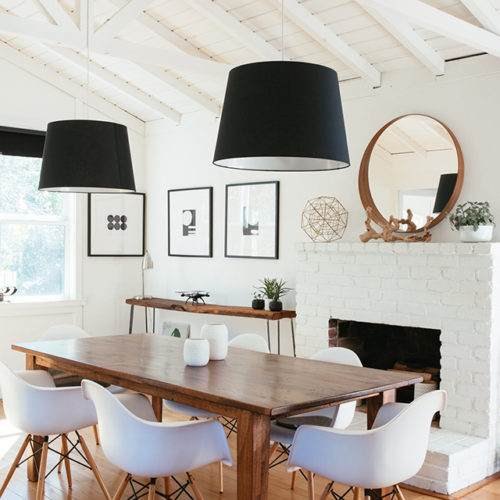 Modern Farmhouse Dining Room High/Low: get the look no matter the budget! | Mint Modern Home