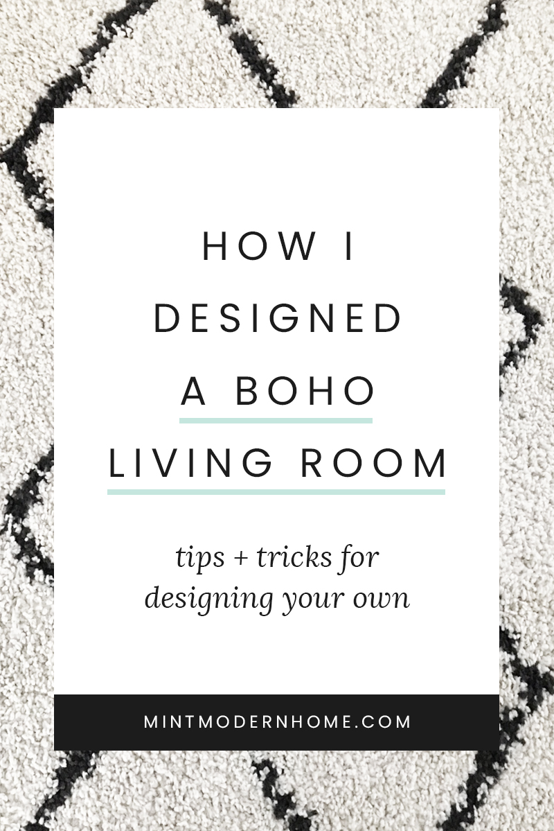 I'll show you the pieces that have inspired my own boho living room design and ways you can bring the modern bohemian style and texture into your own space.