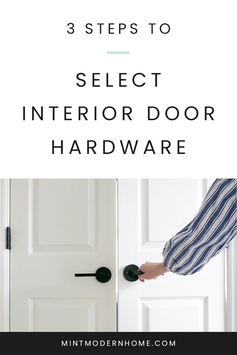 3 Tips to Select Interior Door Hardware